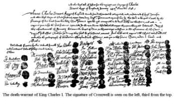 Death Warrant of King Charles I